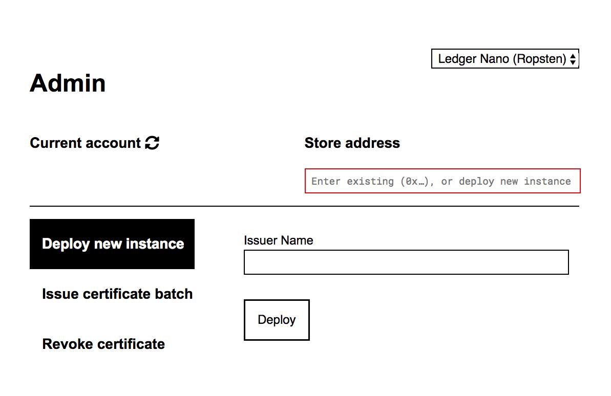 deploying certificate admin interface